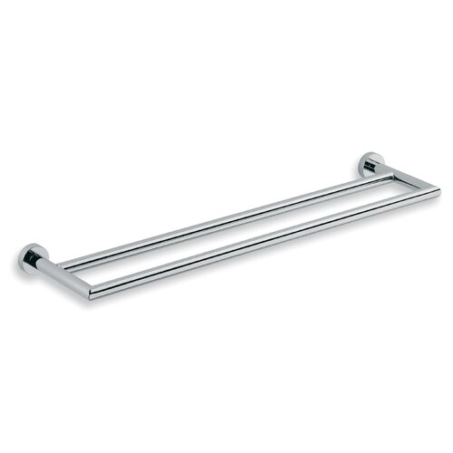 "WS Bath Collections Baketo 23.6"" Wall Mounted Double Towel Bar"