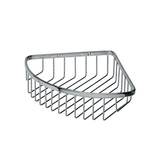"WS Bath Collections Filo 7.7"" x 6.7"" Shower Basket in Polished Chrome"