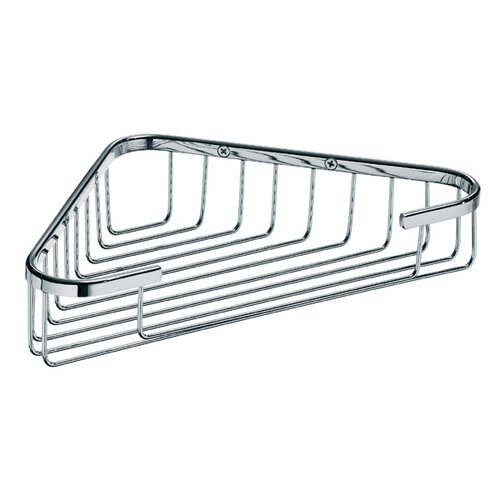 "WS Bath Collections Filo 9.6"" x 5.7"" Shower Basket in Polished Chrome"