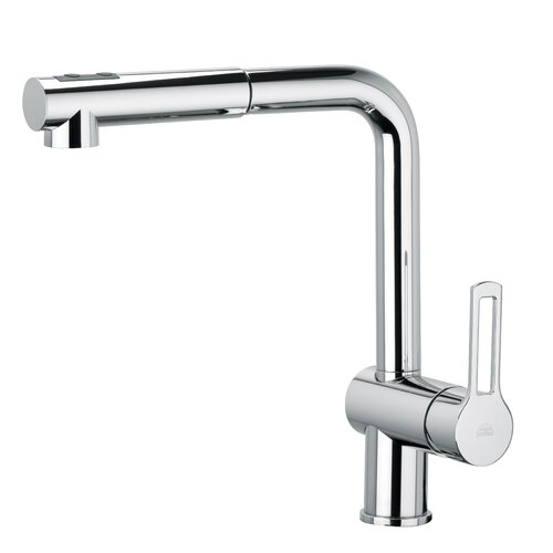 WS Bath Collections Ringo 285 One Handle Single Hole Kitchen Faucet with Pull-out Spray