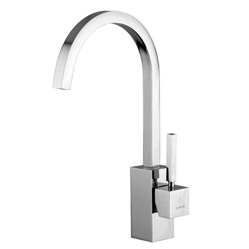Domino One Handle Single Hole Kitchen Faucet with High Swivel Spout