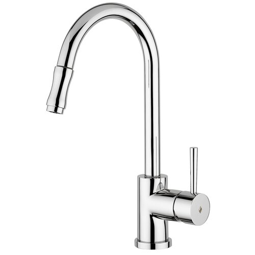 Evo One Handle Single Hole Kitchen Faucet with Pull-Out Spray