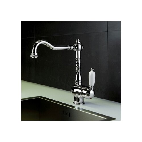 WS Bath Collections Melissa Countertop Single Handle Single Hole Mount Sink Bar Faucet with Swivel Spout