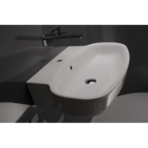 WS Bath Collections Ceramica Valdama Grace Wall Mounted Bathroom Sink