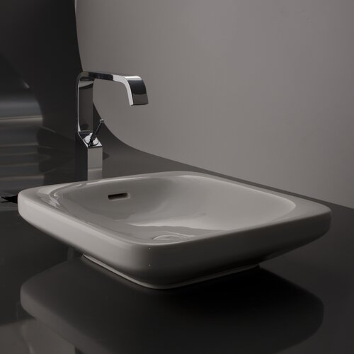 WS Bath Collections Ceramica Valdama Start Wall Mount Bathroom Sink