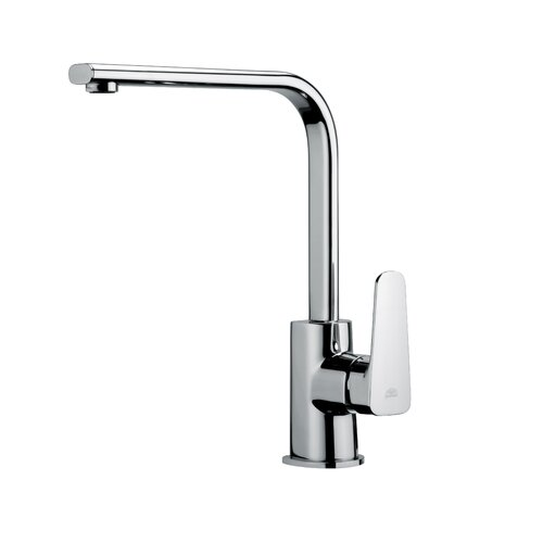 WS Bath Collections Fonte Sly One Handle Single Hole Kitchen Faucet