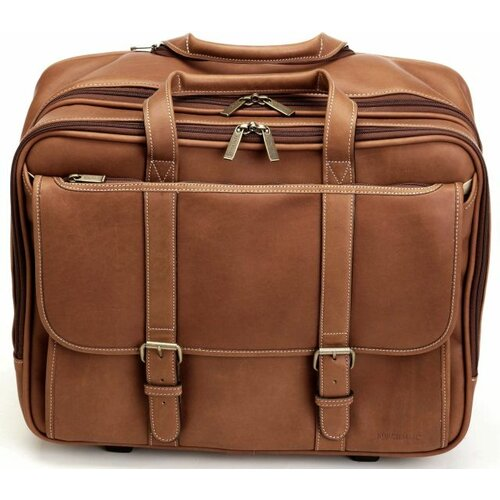 Korchmar Adventure Deluxe Overnighter Leather Laptop Briefcase
