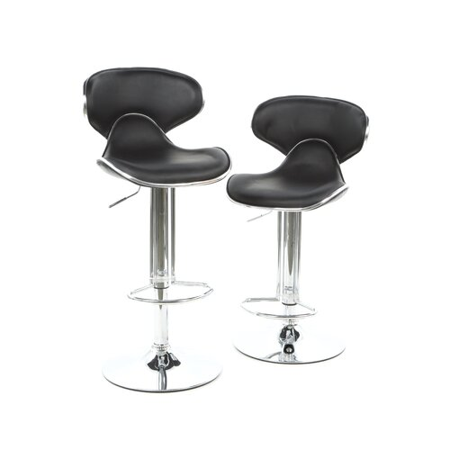 Scoop Gas Lift Swivel Barstool (Set of 2)