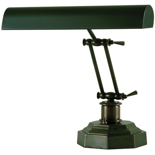 """House of Troy Octagon 12.5"""" H Base Desk Table Lamp"""
