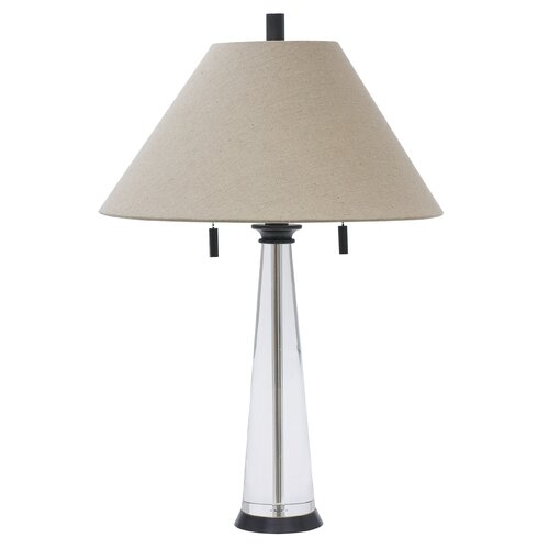 House of Troy Marquis Round Tapered Crystal Table Lamp