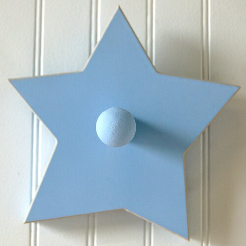 Hand Painted Star Peg Coat Hook