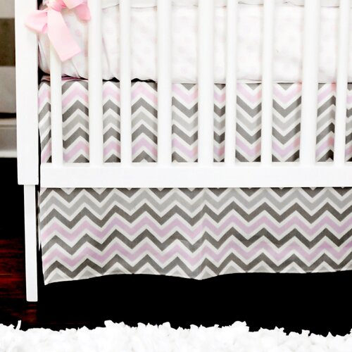 Peace, Love and Pink 2 Piece Crib Bedding Set