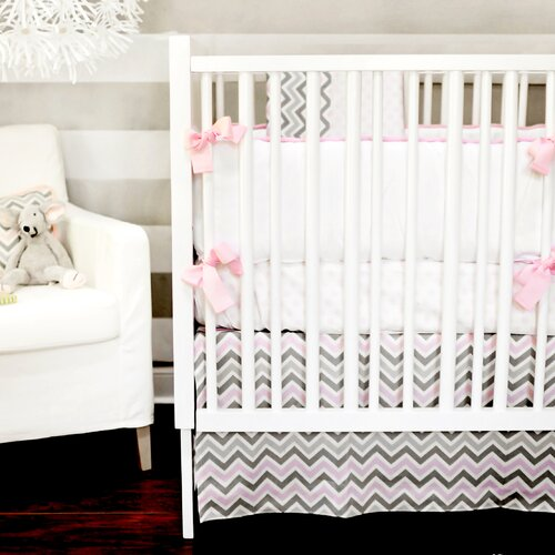 Peace, Love and Pink 3 Piece Crib Bedding Set
