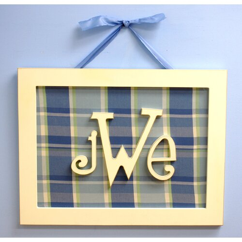 Rectangular Monogram Wall Plaque