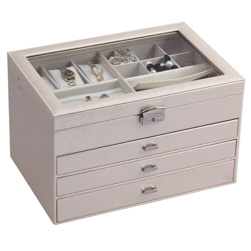 Mele & Co. Lyndon Locking Jewelry Box