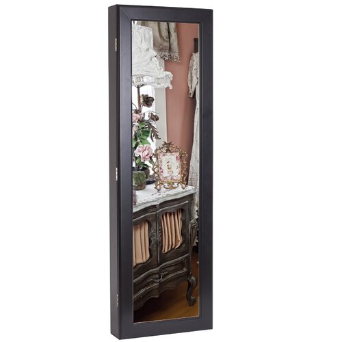 Margaux Wall Mounted Jewelry Armoire with Mirror