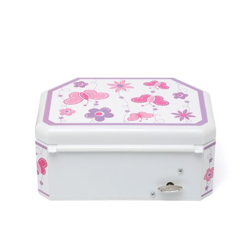 Mele & Co. Kelsey Girl's Glitter-Fly Musical Ballerina Jewelry Box