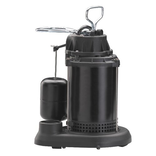 60 GPM Vertical Float Switch Thermoplastic Sump Pump with Epoxy Steel Motor Case