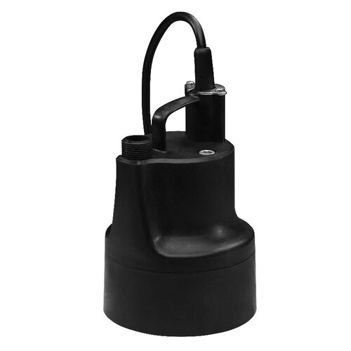 WAYNE 1/10 HP Oil-Free Submersible Multi-Purpose Sump Pump