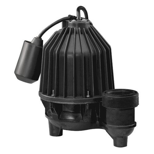 1/3 HP Tether Float Switch Thermoplastic Submersible Effluent Pump