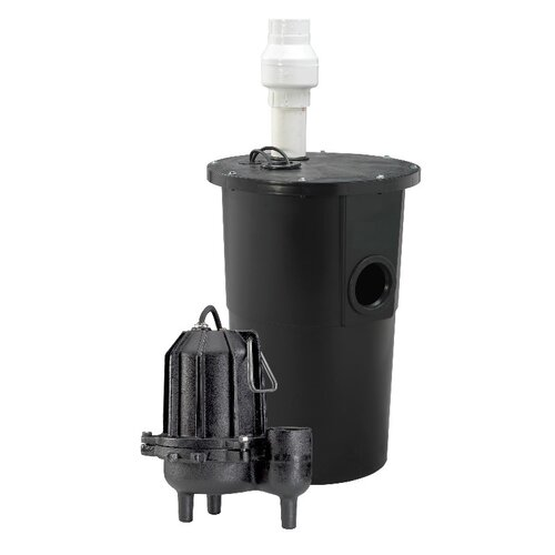 6/10 HP Tether Float Cast-Iron Sewage Packaged System