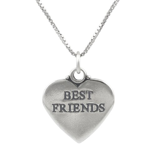 Sterling Silver Best Friend Heart Necklace