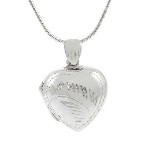 "Skyline Silver Sterling Silver 0.65"" Heart Locket Necklace"