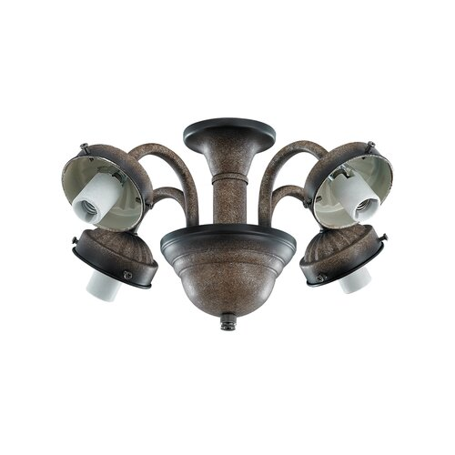 Monte Carlo Fan Company Traditional 4 Light  Branched Ceiling Fan Light Kit