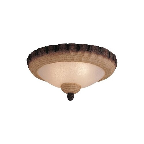 Monte Carlo Fan Company Great Lodge Two Light Bowl Ceiling Fan Light Kit or Semi Flush Mount