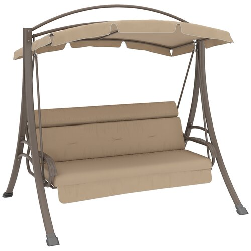 Dcor Design Nantucket Porch Swing With Arched Canopy