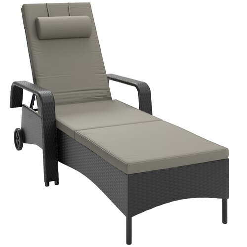 KidKraft Chaise Lounge with Cushion and Umbrella & Reviews