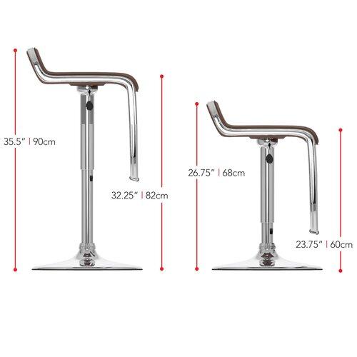 dCOR design Adjustable Bar Stool