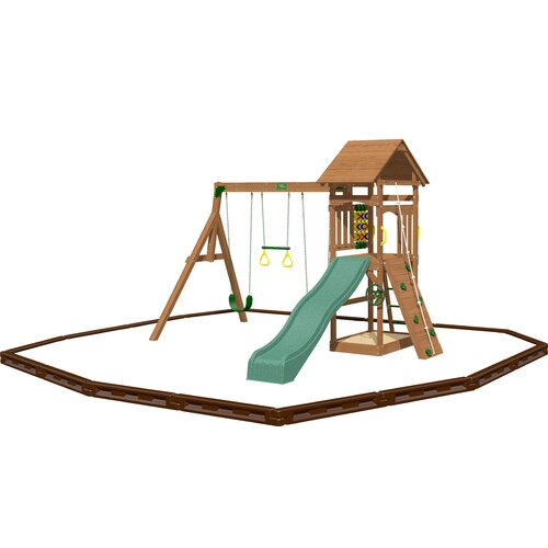 Playtime Swing Sets Riviera Swing Set with Play Zone Components