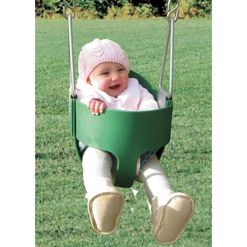 Playtime Swing Sets Bucket Toddler Swing Seat with Chain