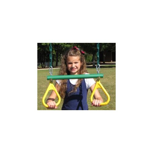 Playtime Swing Sets Ring Trapeze with Rope