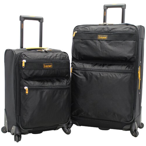 Expandable 2 Piece Luggage Set