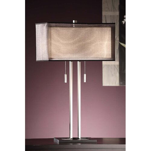 "Crestview Collection Altus 29"" H Table Lamp with Rectangle Shade"