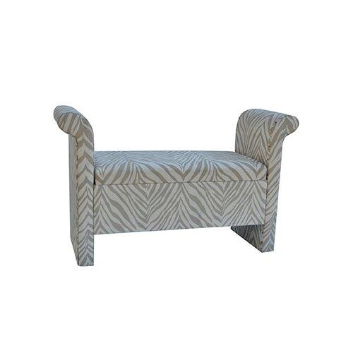 Safari Upholstered Zebra Bedroom Bench