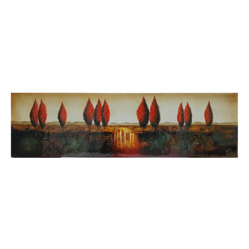 Crestview Collection Sunrise in the Horizon Oil Painting Print on Canvas