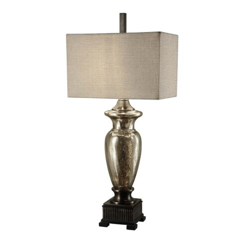 crestview collection murcury 40 h table lamp with rectangular shade. Black Bedroom Furniture Sets. Home Design Ideas