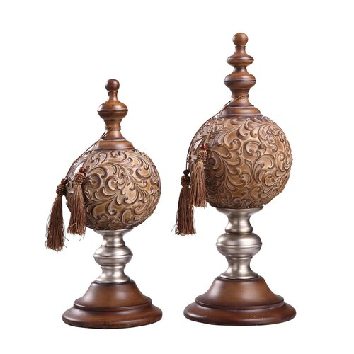 Crestview Collection 2 Piece Paola Finial Figurine