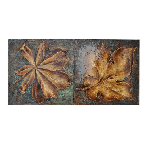 Crestview Collection Bakker's Notebook 2 Piece Original Painting on Canvas Set