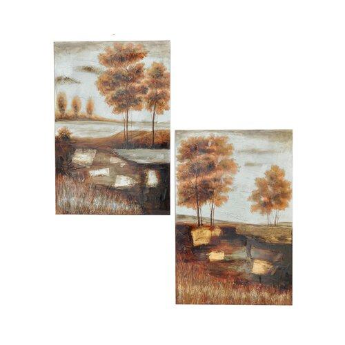Deep Creek 2 Piece Original Painting on Canvas Set (Set of 2)