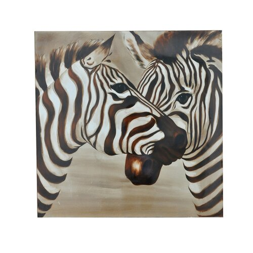 Crestview Collection Zebras Graphic Art on Canvas