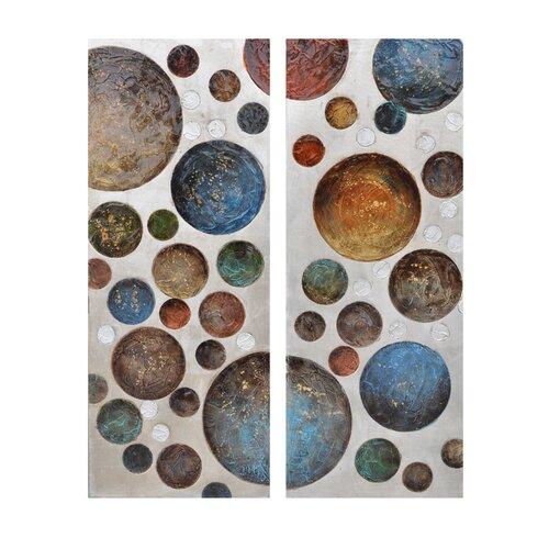 Crestview Collection Flammarion 2 Peice Graphic Art on Canvas Set