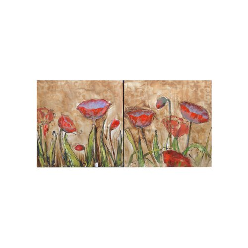 Crestview Collection Deitrich 2 Peice Painting Print on Canvas Set
