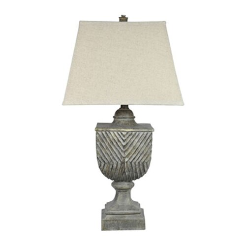 """Crestview Collection Beachwood 34.5"""" H 1 Light Table Lamp"""
