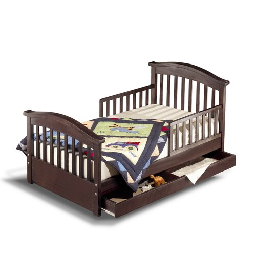 Sorelle Joel Pine Toddler Bed with Storage