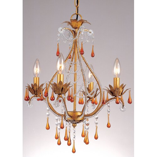 AF Lighting Josephine 4 Light Mini Chandelier