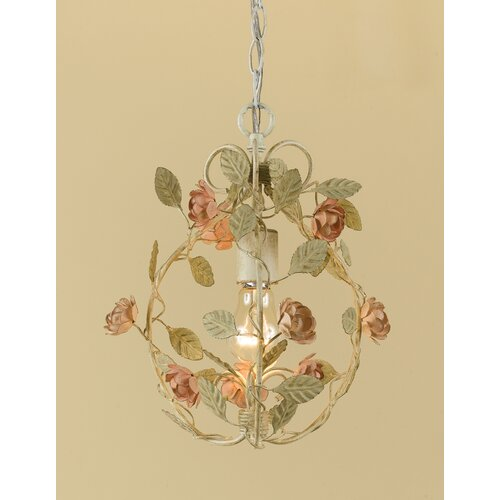 AF Lighting Ramblin Rose 1 Light Mini Chandelier